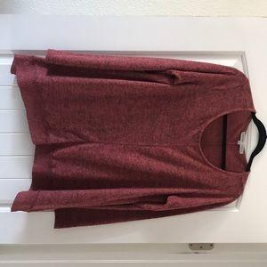 Large Burnt Orange Long Sleeve Sweater tunic